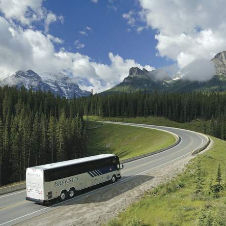 Brewster Motorcoach in the Canadian Rockies