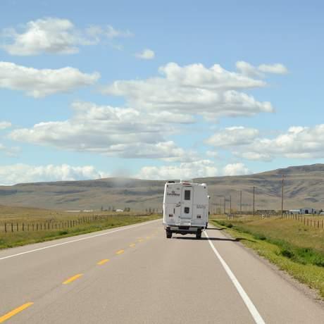 Unterwegs mit einem CanaDream TCA Modell in Alberta