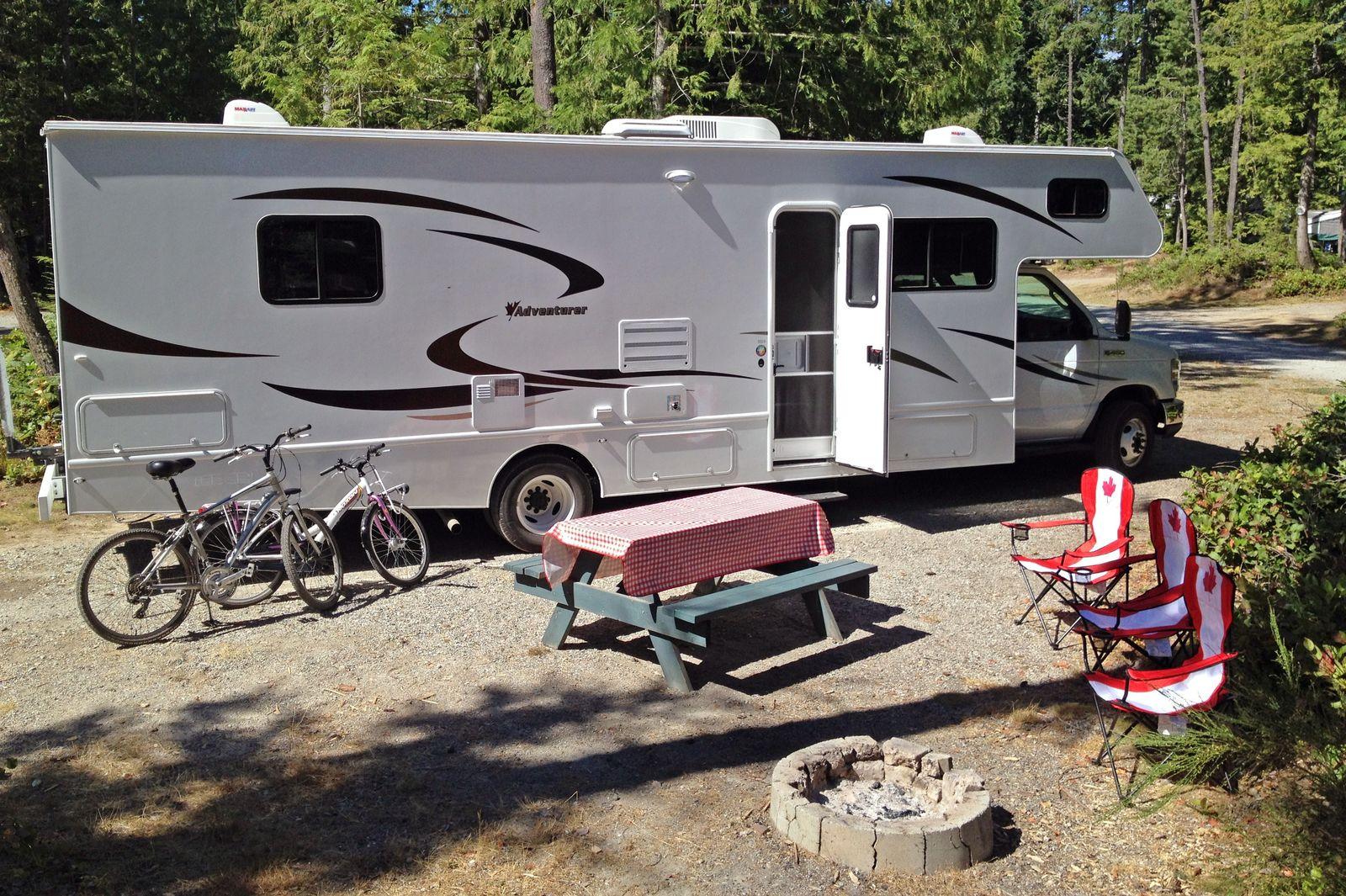 Auf dem Bayside Campground in Sechelt
