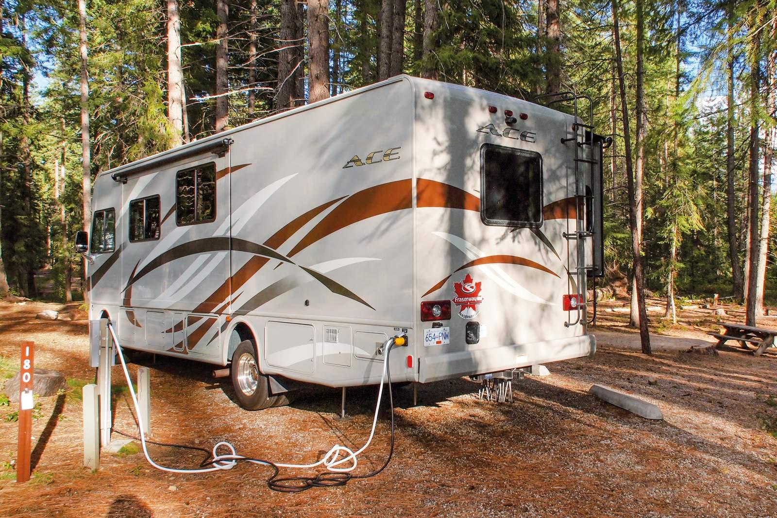 Anschluesse auf dem Campground