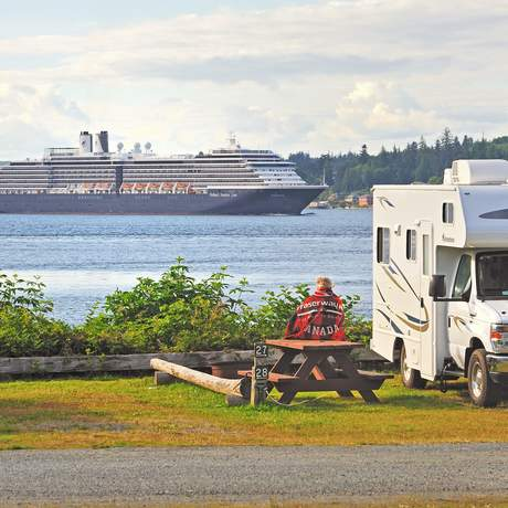 Camper auf Vancouver Island