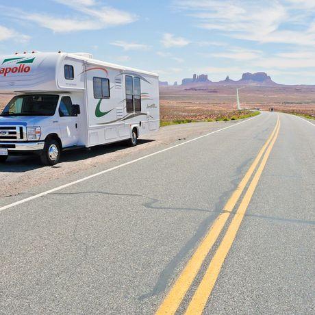 Camper im Monument Valley
