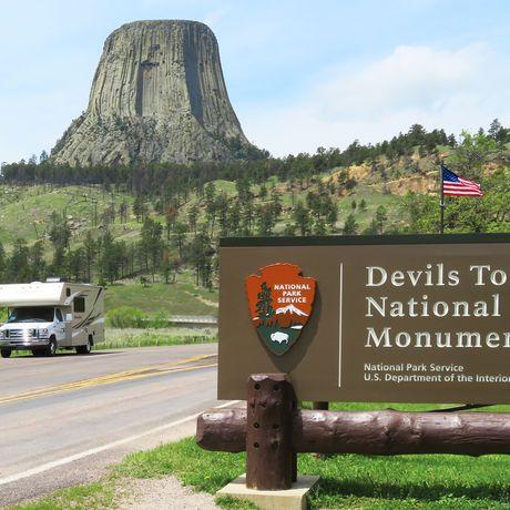 Aussenansicht des Apollo Pioneer beim Devils Tower Monument