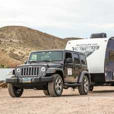 Jeep & Trailer von Best Time RV im Gunlock State Park