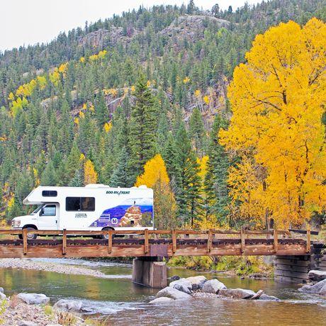 Camper unterwegs bei Silverton, Colorado