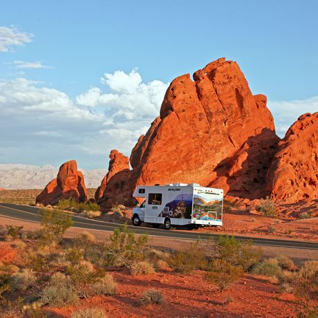 Motorhome im Valley of Fire