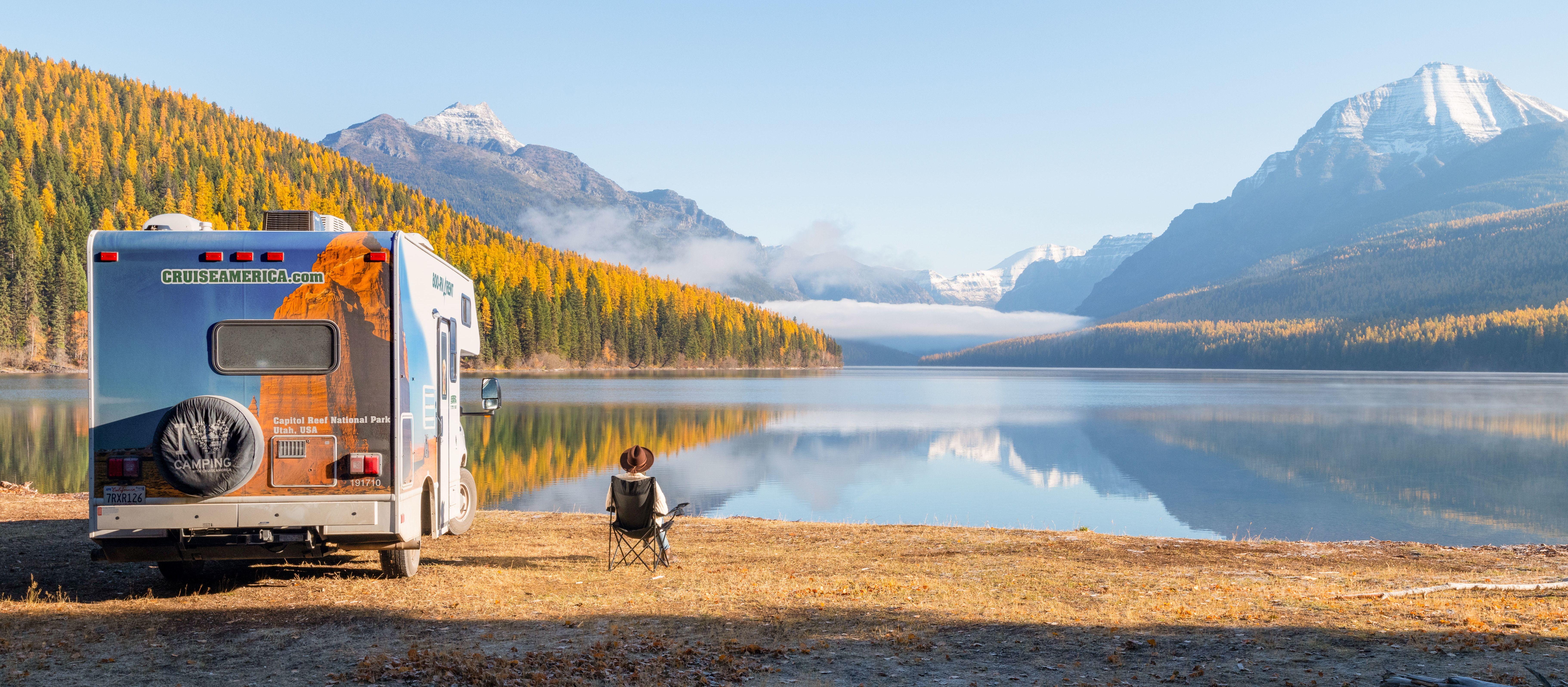Mit dem Camper C19 von Cruise America die Aussicht an der Westküste Nordamerikas genießen