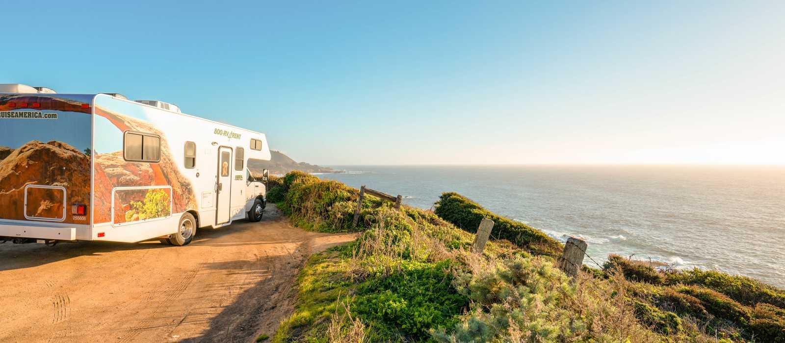 Mit dem Camper C25 von Cruise America Kalifornien erleben