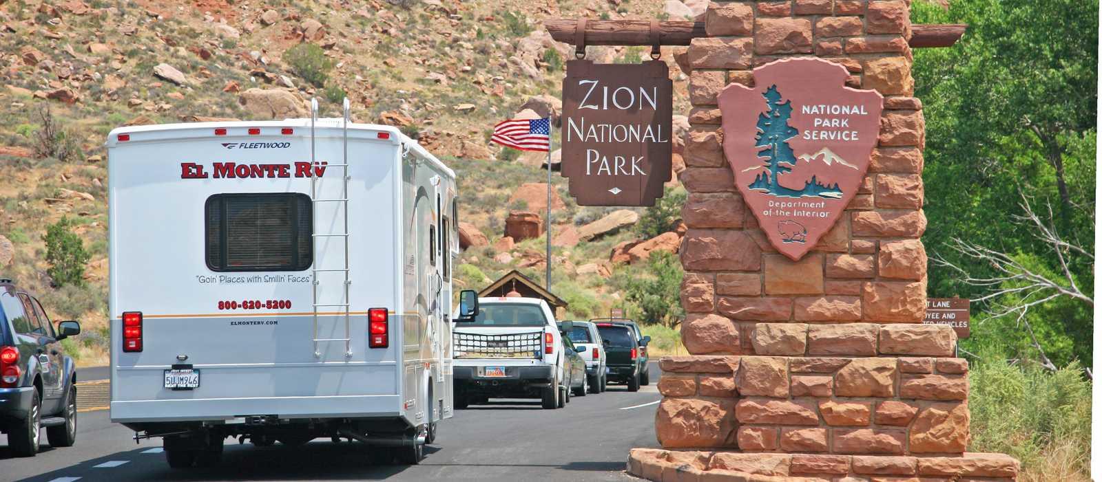 Auf dem Weg in den Zion NP