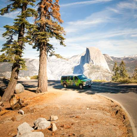 Mit dem Campervan von Escape Campervans durch den Yesemite Nationalpark in den USA