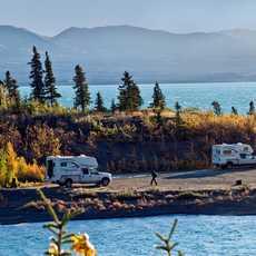 KANADA - Yukon Alaska Highway - Kluane Lake Mood Bild
