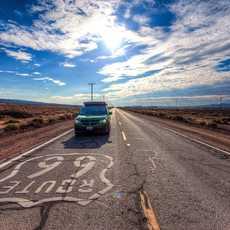 Aussenansicht Jucy Full Size in Kalifornien auf der Route 66