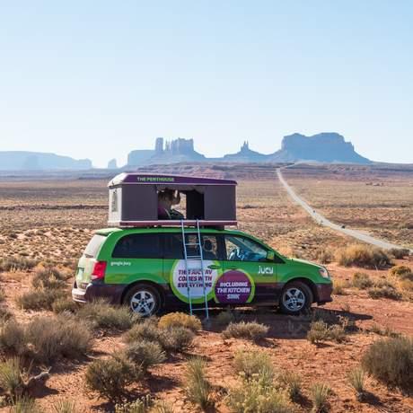 Jucy Champ in der Wüste des Monument Valley