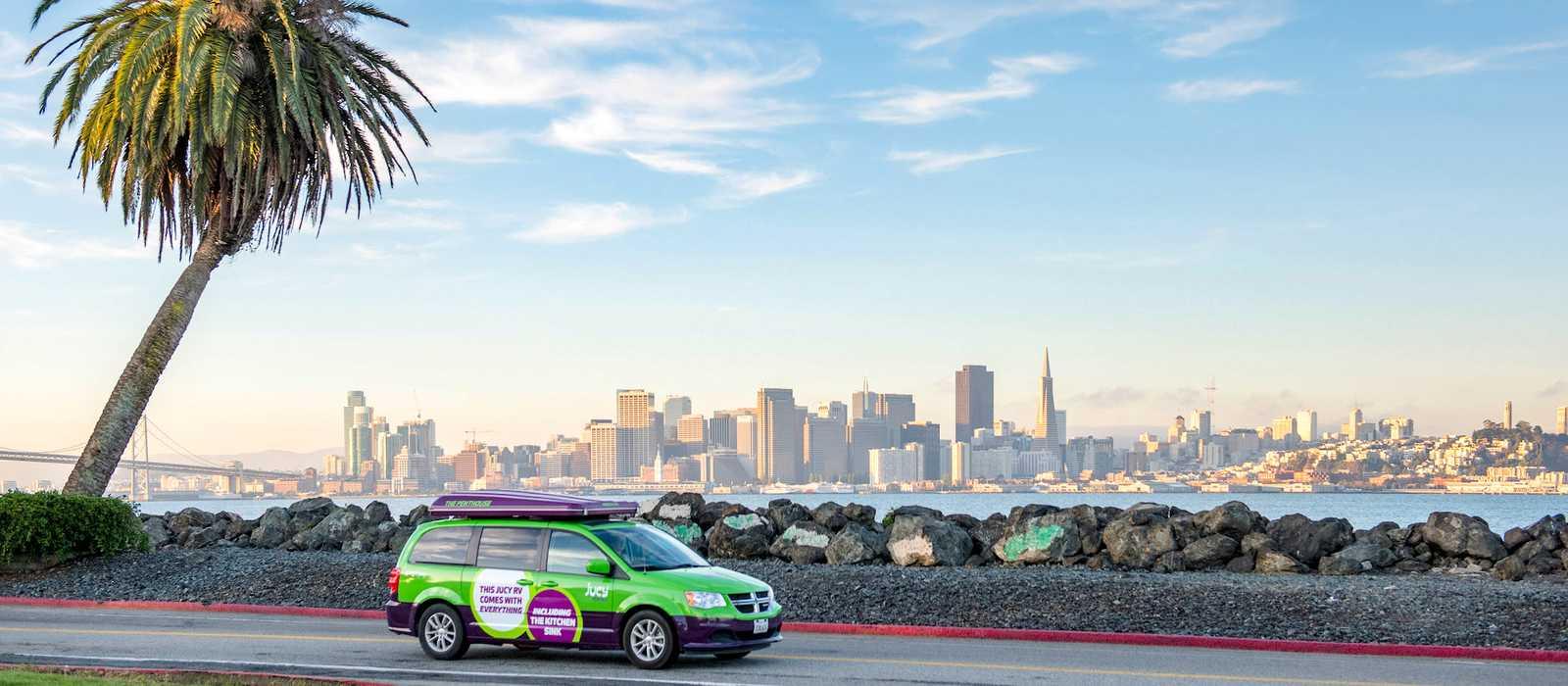 Der Champ Minivan von Jucy Rentals bei San Francisco