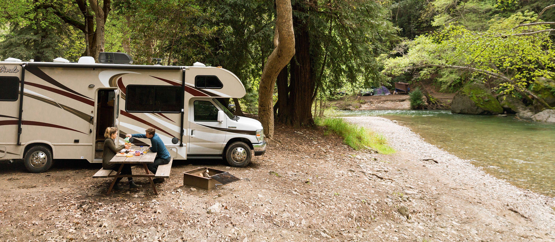 Campingplatz in der traumhaften Natur
