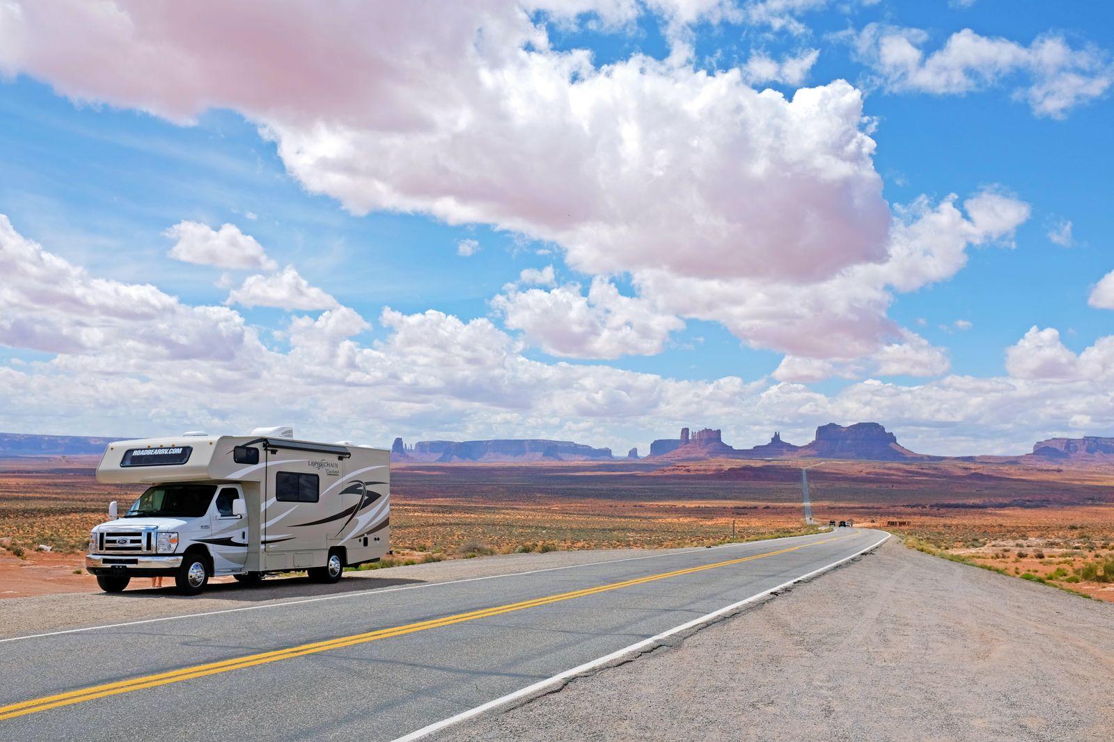 Wohnmobil im Monument Valley