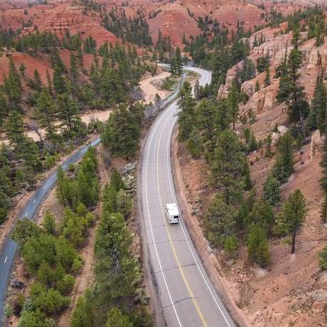 Unterwegs mit dem Road Bear C20-23 im Bryce-Canyon-Nationalpark