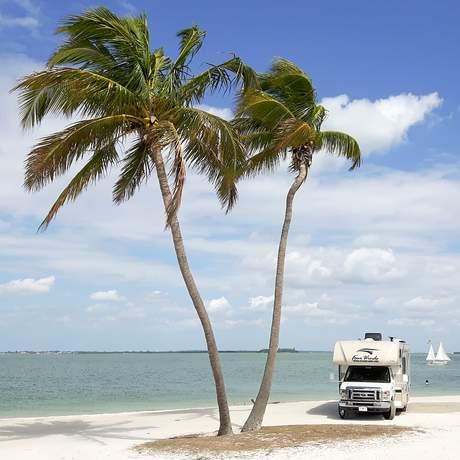 Wohnmobil am Strand von Sanibel Island