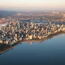 Luftaufnahme von Vancouver und Stanley Park