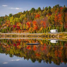 Wohnmobil im Herbst im Algonquin Provincial Park