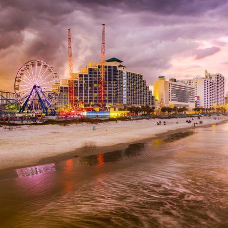 Daytona Beach in Florida bewölkter Himmel
