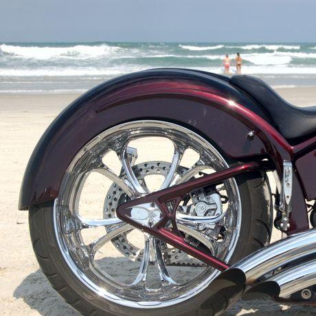 Motorrad auf der Daytona Bike Week in Florida