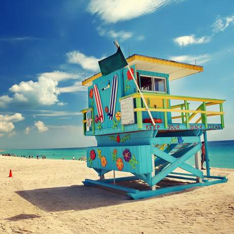 South Beach Miami im Sommer