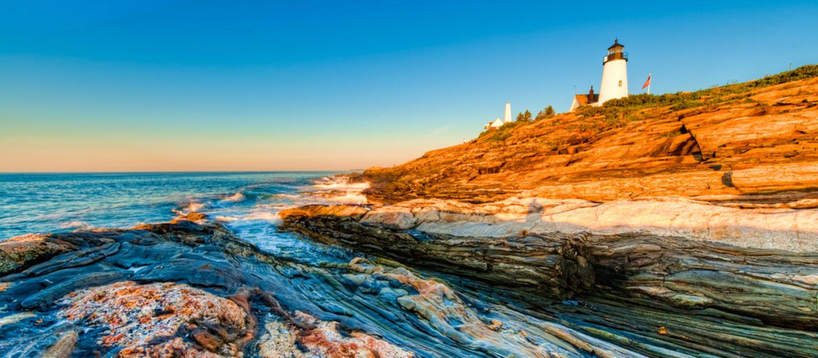 Pemaquid Point Leuchtturm in Maine