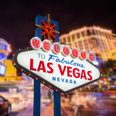 Welcome to fabulous Las Vegas Schild und Strip Lichter