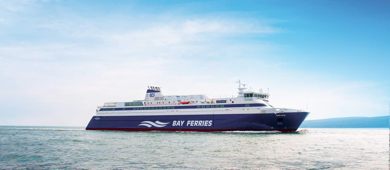 "Die ""MV Fundy Rose"" Fähre von Bay Ferries Limited"