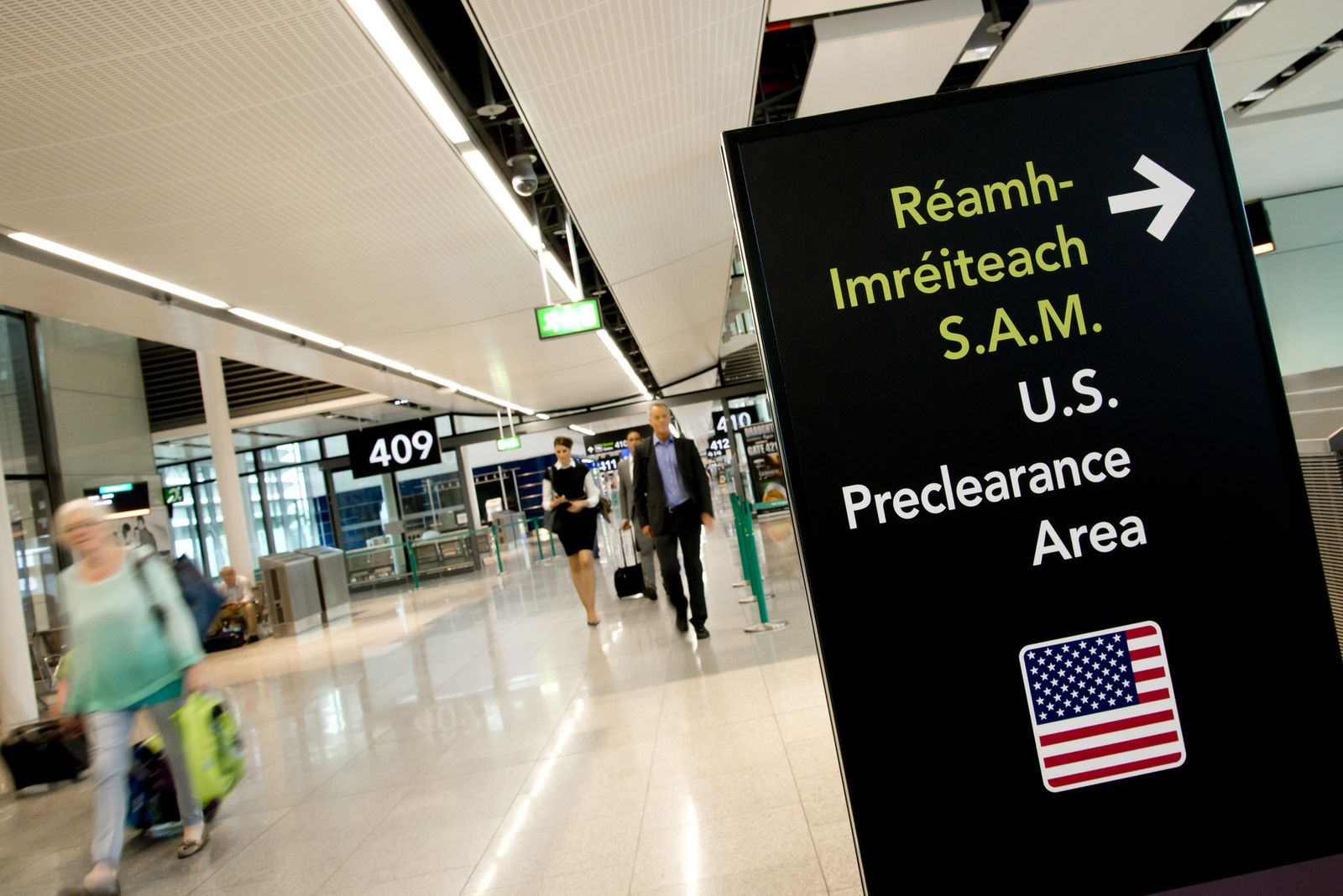 Preclearance Area am Flughafen