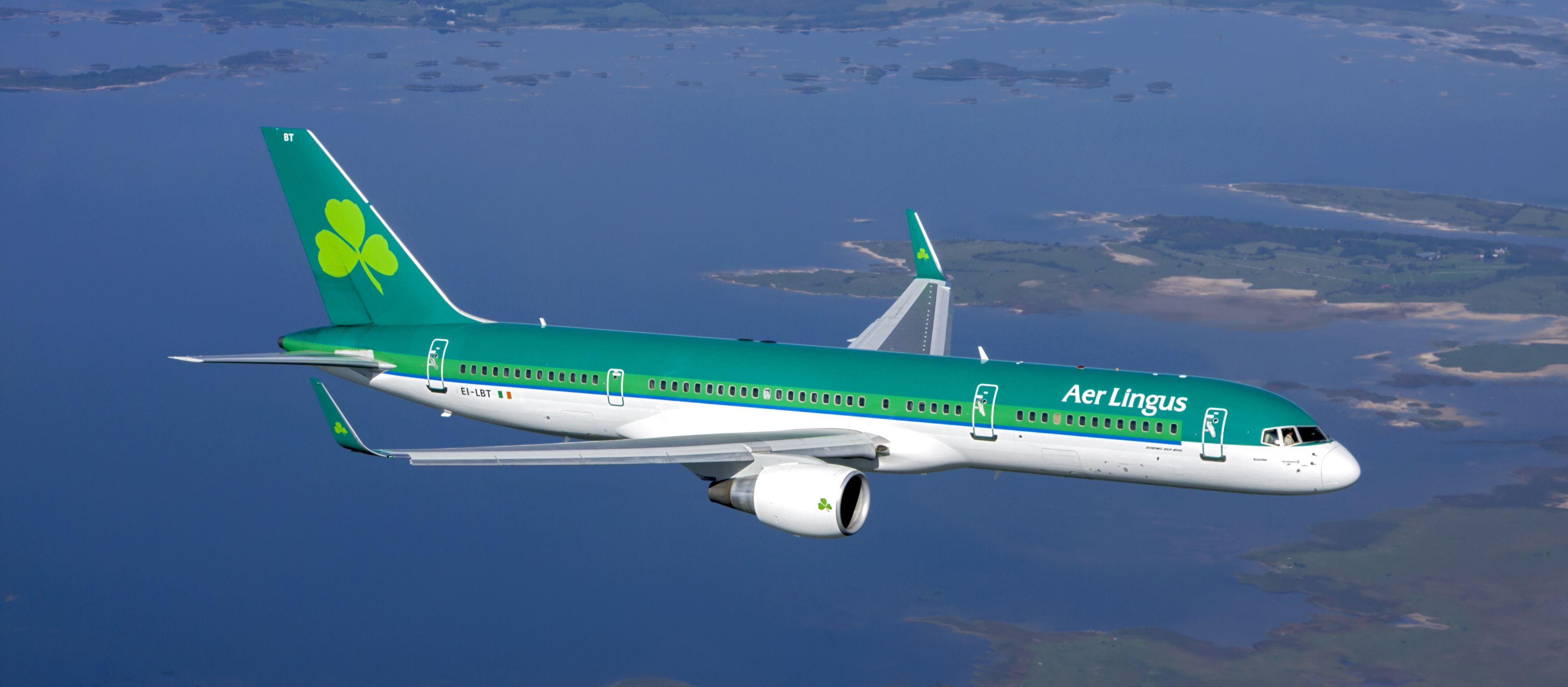Aussenansicht des Aer Lingus Flugzeugs in Reiseflughöhe