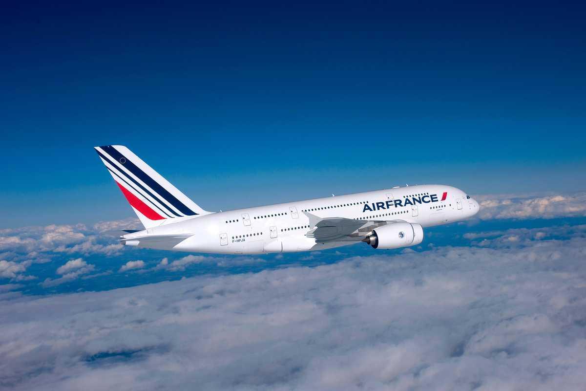 Ein Airbus A380 der Air France Fluggesellschaft
