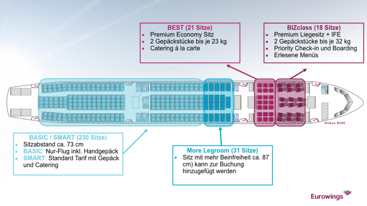 Eurowings a330-300 seatmap Airbus A330