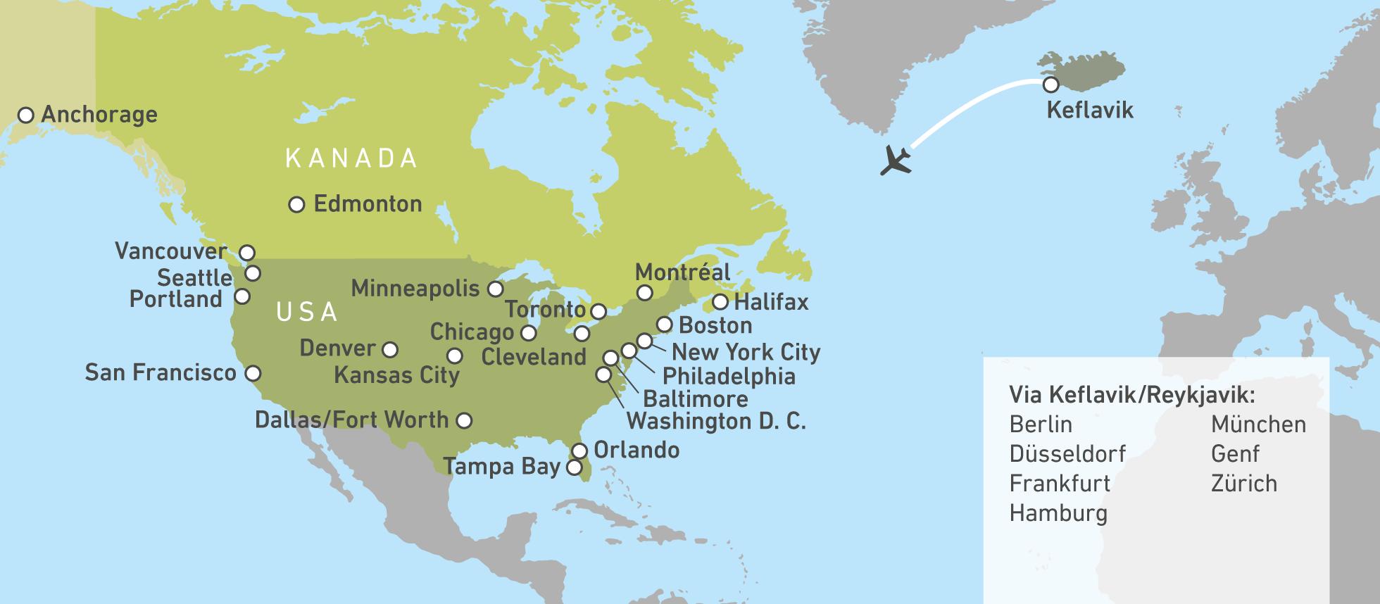 Mit Icelandair Nach Nordamerika Canusa