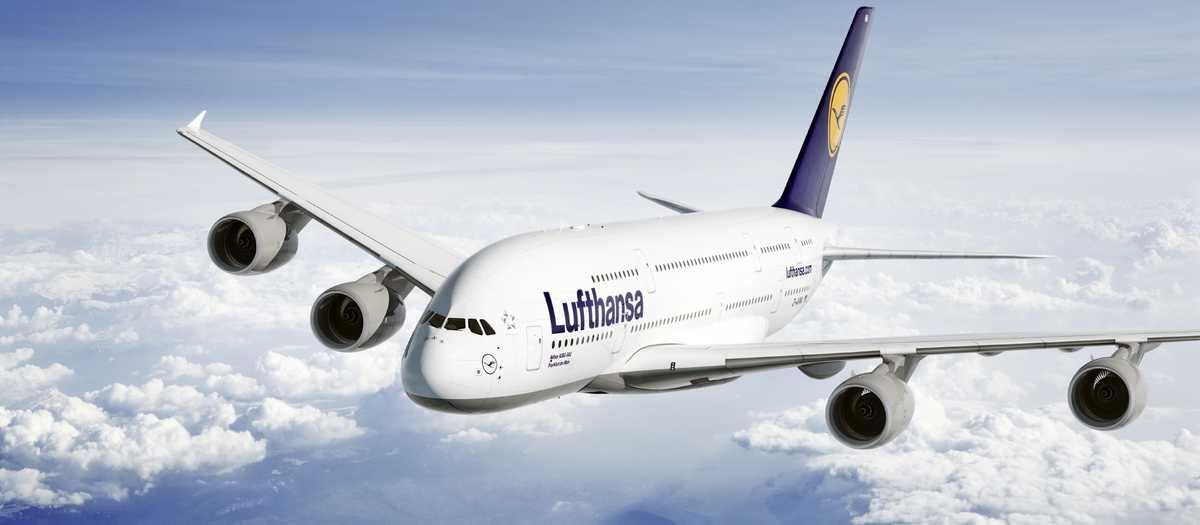 Air-to-air Motiv der Lufthansa A380