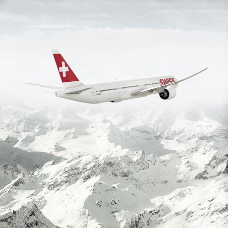 Aussenansicht eines Swiss Flugzeuges