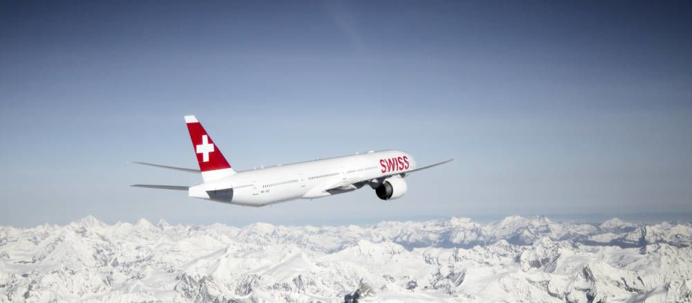 Aussenansicht der Boeing 777-300 der Swiss International Air Line