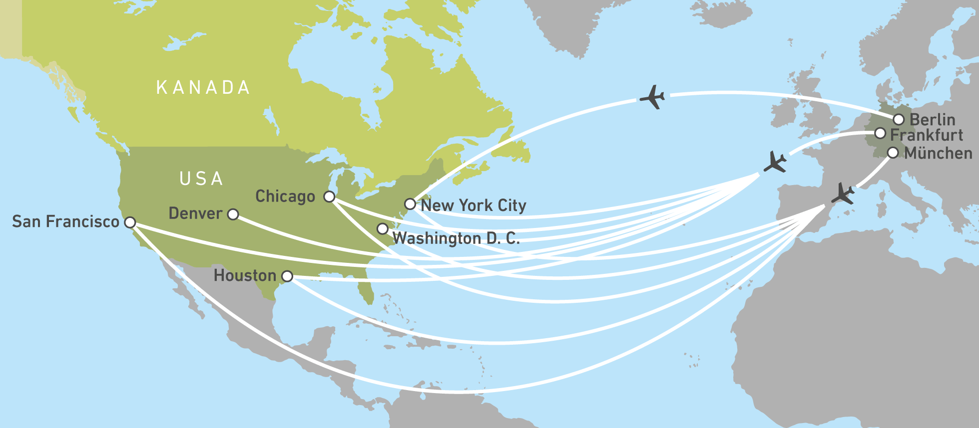 Mit United Airlines Nonstop In Die Usa Canusa