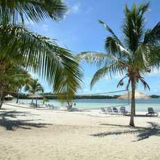 Der Strand des Bluff House Resorts auf Abaco