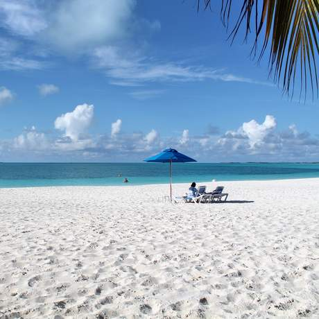 Der Strand des Treasure Cay Bahama Beach Club Hotels