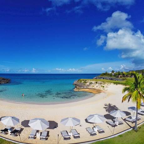 Privater Stand des The Cove Hotel in Eleuthera, Bahamas