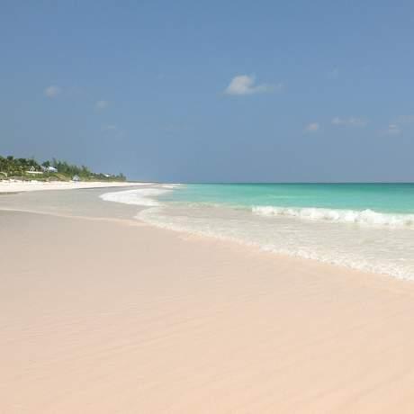 Pink Sand Beach in Harbour Island auf Eleuthera