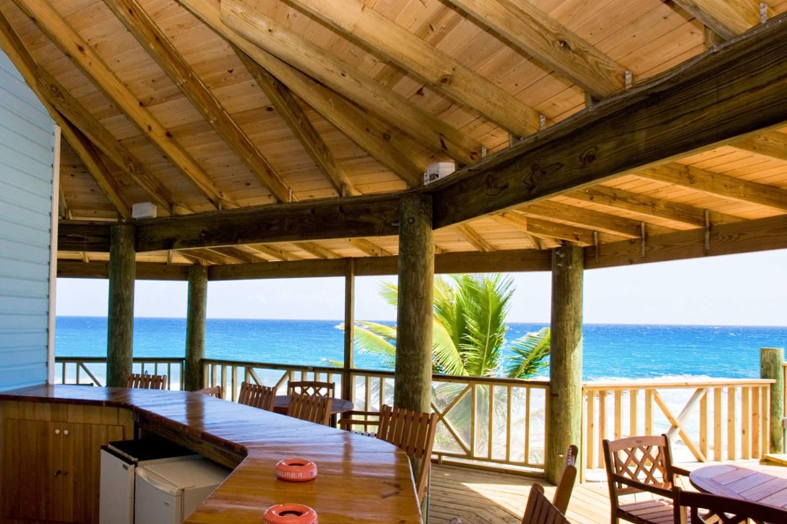 Blick von der Bar des Stella Maris Resorts***, Long island