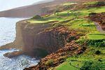 Golfplatz and der Steilküste von Lanai, Hawaii