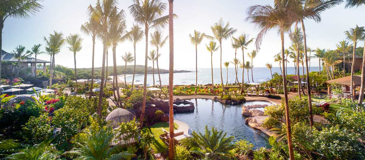 Poolbereich des Four Seasons auf Lanai, Hawaii