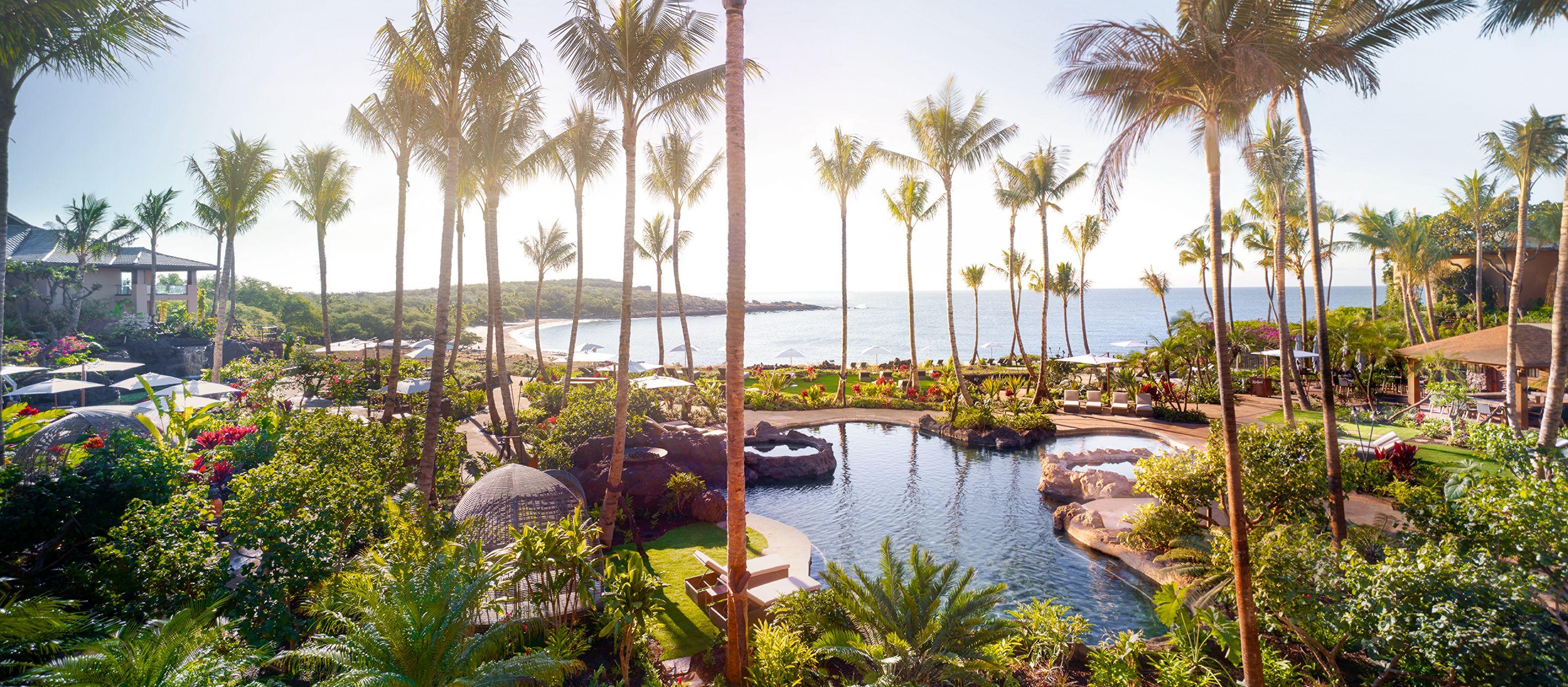Poolbereich des Four Seasons auf Lanai, Hawaii