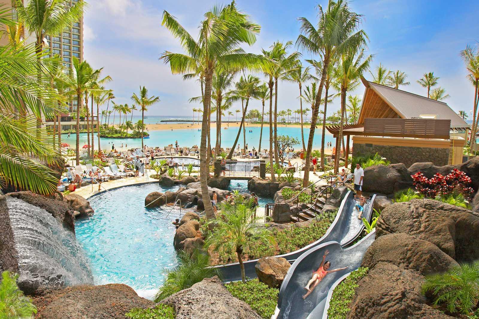 Pool am Hilton Hawaiian Village auf Oahu