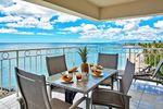 Frühstück mit Blick auf das Meer Lanai, Hawaii