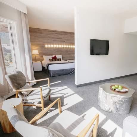Die Junior Suite des Elk + Avenue Hotels in Banff